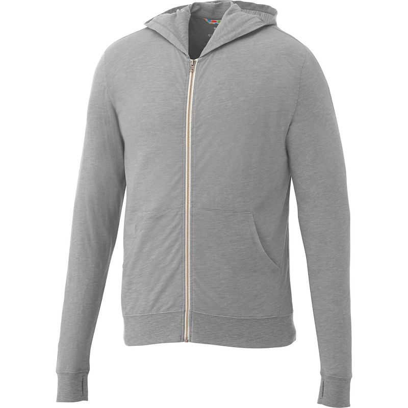 Garner Knit Full Zip Hoody - Men's | Heather Grey