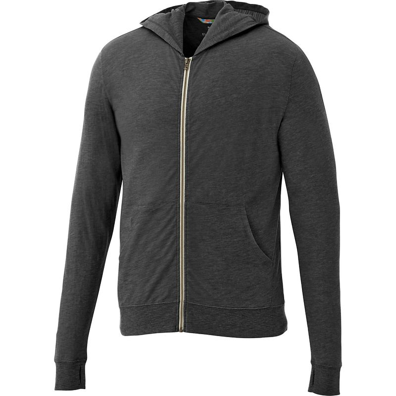 Garner Knit Full Zip Hoody - Men's | Heather Dark Charcoal