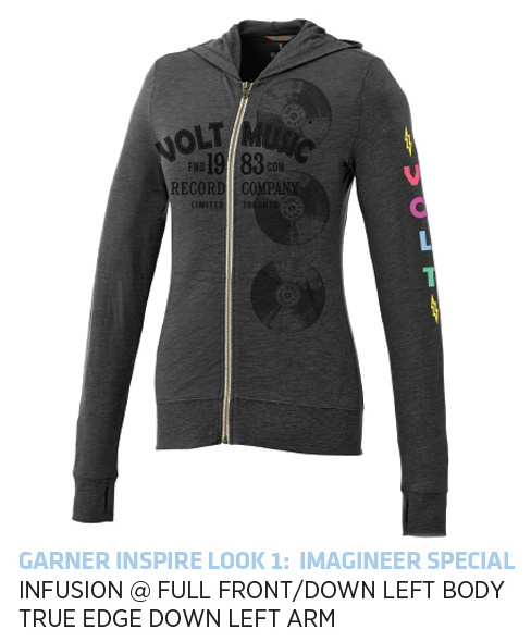 Garner Knit Full Zip Hoody - Men's | Heather Dark Charcoal - Decorated Image