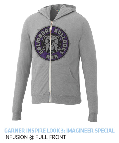 Garner Knit Full Zip Hoody - Men's | Heather Grey - Decorated Image