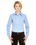 UltraClub Women's Medium-Check Woven