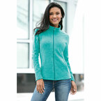 Port Authority Ladies Heather Microfleece Full -Zip Jacket