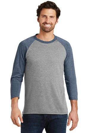 District Made Mens Perfect Tri 3/4-Sleeve Raglan