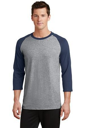 Port & Company Core Blend 3/4-Sleeve Raglan Tee