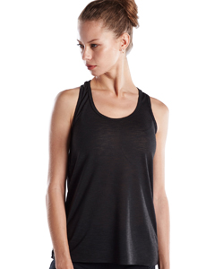 Ladies' Solid Slub Racer Tank