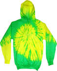Youth Fluorescent Tie-Dyed Pullover Hoodie