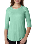 Ladies' Oasis Wash 3/4 Sleeve T-Shirt