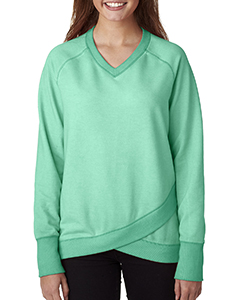 Ladies' Oasis Wash Criss-Cross V-Neck