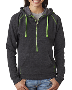 Ladies Triblend Half-Zip Hood