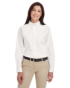 Ladies' Foundation 100% Cotton Long-Sleeve Twill Shirt with Teflon™