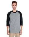 Adult Heavy Cotton™ 5.3 oz., 3/4 Raglan Sleeve T-Shirt
