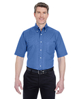 Men?s Tall Classic Wrinkle-Resistant Short-Sleeve Oxford