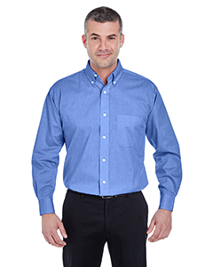 Men's Long-Sleeve Performance Pinpoint
