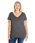 Ladies' Curvy V-Neck Premium Jersey T-Shirt
