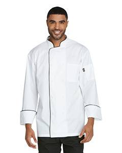 Unisex Cool Breeze Chef Coat with Piping