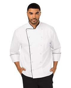 Unisex Executive Chef Coat with Piping