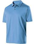 Adult Polyester Textured Stripe Shift Polo