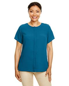 Perfect Fit™ Short Sleeve Crepe Blouse
