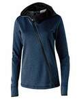Ladies' Polyester Fleece Full Zip Hooded Artillery Angled Jacket