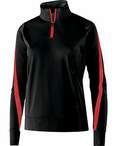 Ladies' Polyester 1/4 Zip Determination Pullover