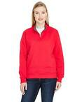 Ladies' 7.2 oz. Sofspun® Quarter-Zip Sweatshirt