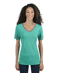 Ladies' 4.5 oz. TRI-BLEND Varsity V-Neck T-Shirt