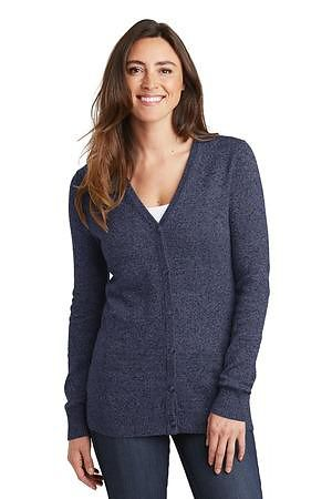 Port Authority  Ladies Marled Cardigan Sweater