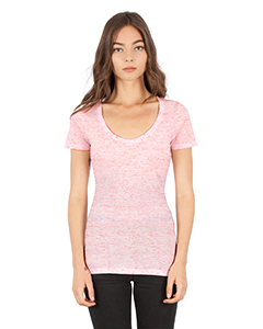 Ladies' 4.3 oz., Caviar Deep V-Neck T-Shirt