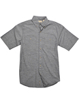 Men's Slub Chambray Short-Sleeve Shirt