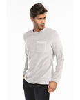 Unisex Velour Long Sleeve Pocket T-Shirt