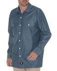 Men's Relaxed Fit Long-Sleeve Chambray Shirt
