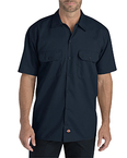 Men's FLEX Relaxed Fit Short-Sleeve Twill Work Shirt