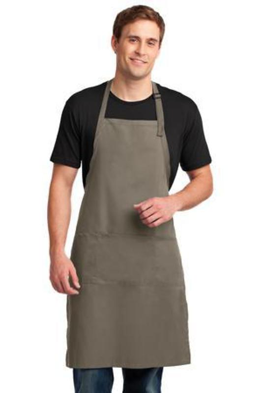 Port Authority Easy Care Extra Long Bib Apron with Stain Release
