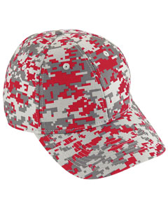 Youth Digi Camo Cotton Twill Cap | RED DIGI