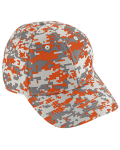 Youth Digi Camo Cotton Twill Cap | ORANGE DIGI
