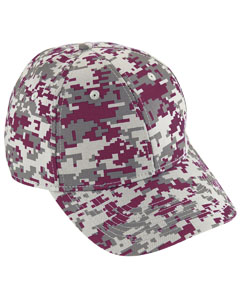 Youth Digi Camo Cotton Twill Cap | MAROON DIGI