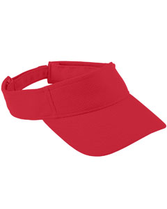 Youth Adjustable Wckng Msh Visor | RED