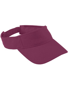 Youth Adjustable Wckng Msh Visor | MAROON
