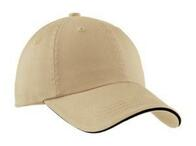 Port Authority Sandwich Bill Cap with Striped Closure