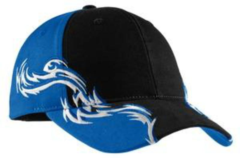 Port Authority Colorblock Racing Cap with Flames