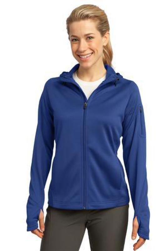 Sport-Tek Ladies Tech Fleece Full-Zip Hooded Jacket