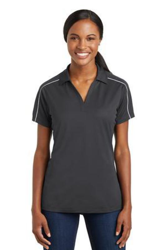 Sport-Tek Ladies Micropique Sport-Wick Piped Polo