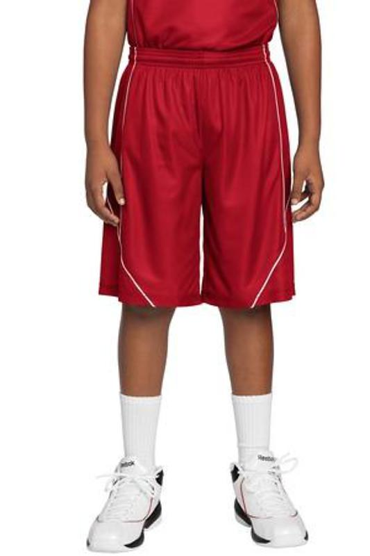 Sport-Tek Youth PosiCharge Mesh Reversible Spliced Short