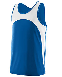 Adult Wicking Polyester Sleeveless Jersey with Contrast Inserts