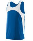 Youth Wicking Polyester Sleeveless Jersey with Contrast Inserts