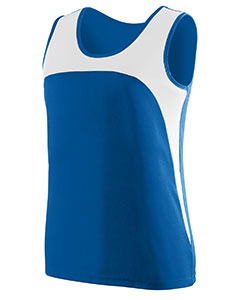 Ladies Wicking Polyester Sleeveless Jersey with Contrast Inserts