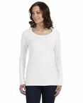 Ladies' Ringspun Sheer Long-Sleeve Featherweight T-Shirt