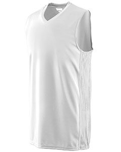 Youth Wicking Polyester Sleeveless Jersey with Mesh Inserts