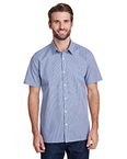 Mens Microcheck Gingham Short-Sleeve Cotton Shirt