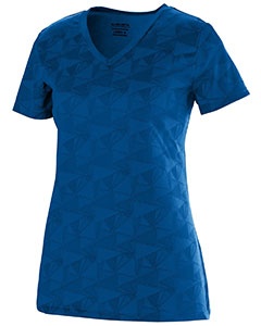 Ladies Wicking Printed Polyester Short-Sleeve T-Shirt